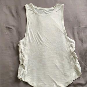 Lulu Lemon woven side tank top!!